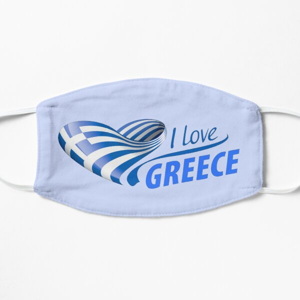 I Love Greece Mask