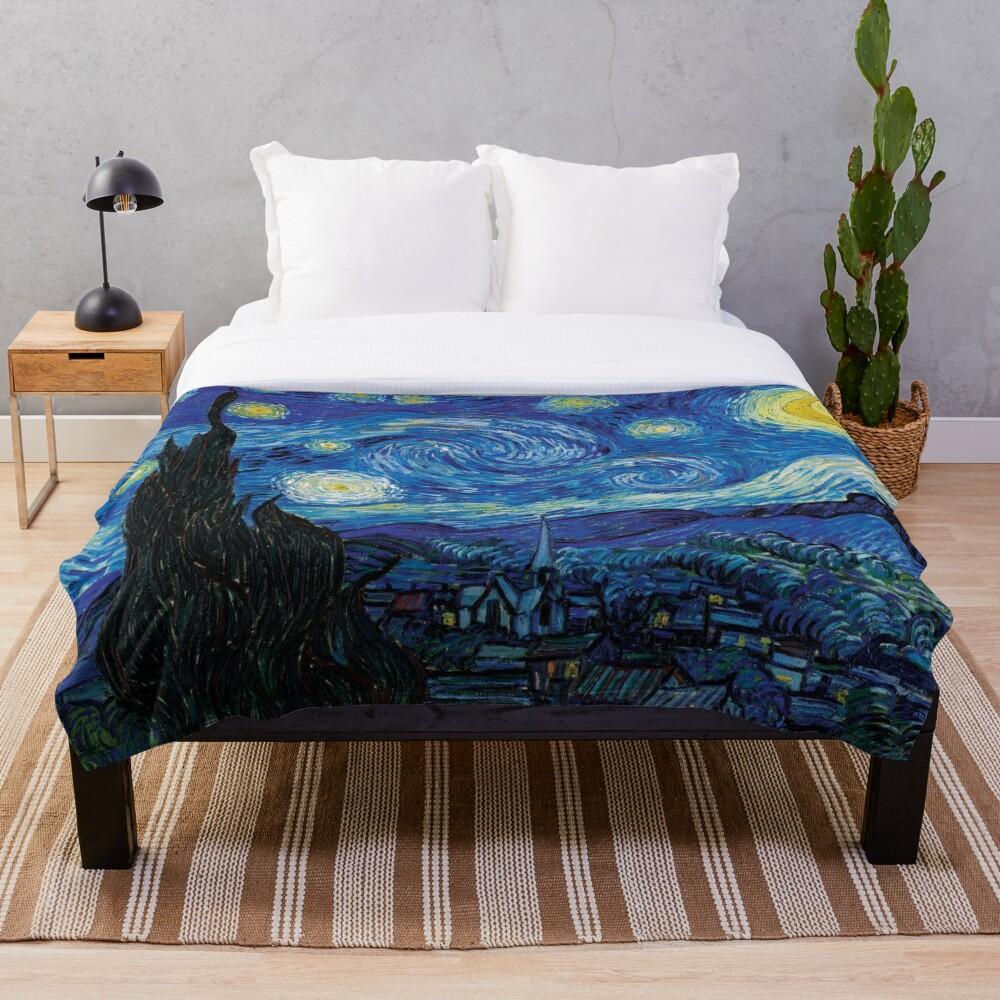 Vincent Van Gogh - Starry Night Throw Blanket