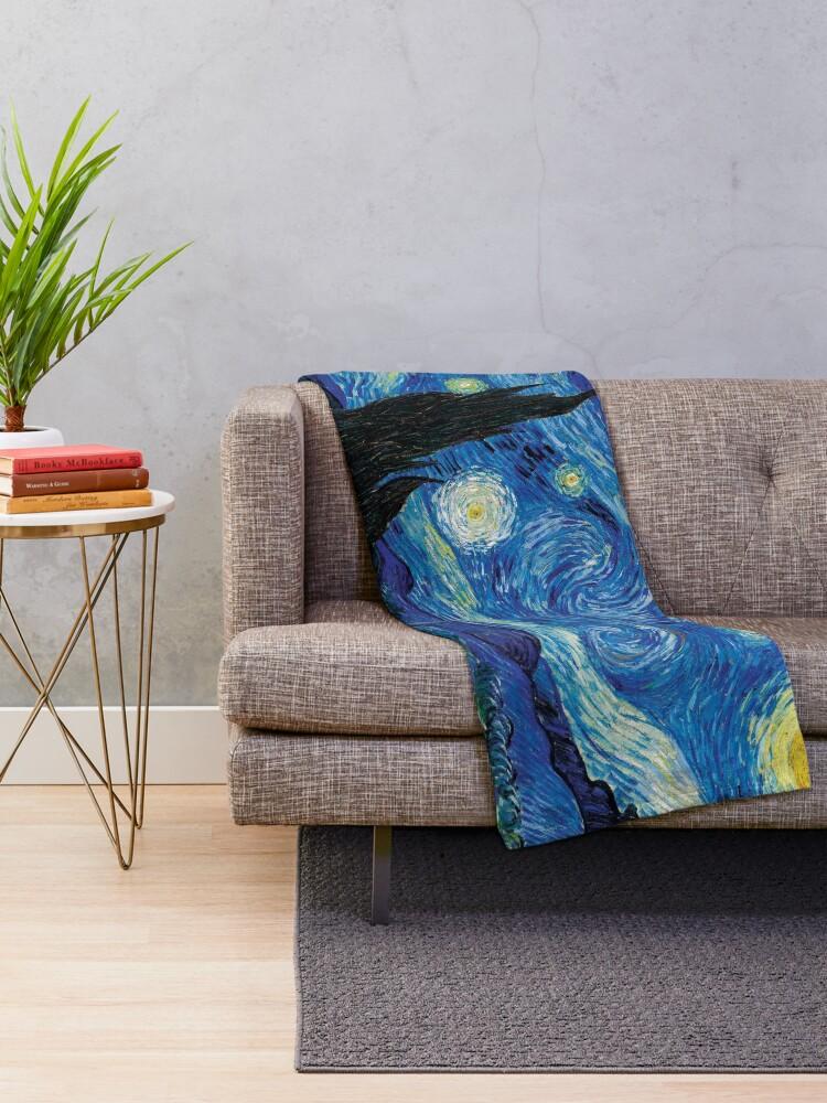 Alternate view of Vincent Van Gogh - Starry Night Throw Blanket