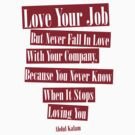 Love your job but don't love your company by nidahasa