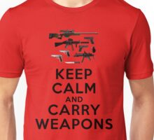 Keep calm and carry weapons Unisex T-Shirt