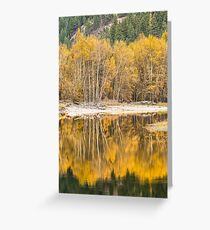 Autumn Reflections in the Kettle River Greeting Card
