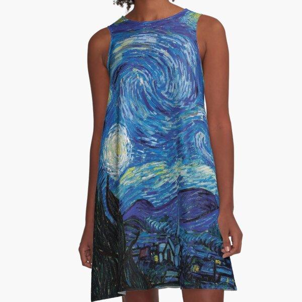 Vincent Van Gogh - Starry Night A-Line Dress