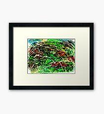 Green Dominant Framed Print