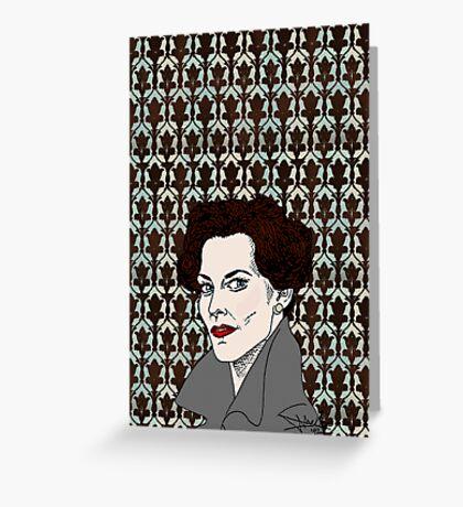 Miss Adler: Brainy/Sexy Greeting Card