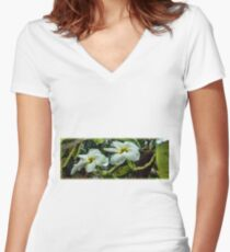 Awaiting a Review Women's Fitted V-Neck T-Shirt