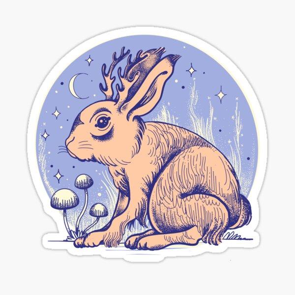 Little jackalope Sticker