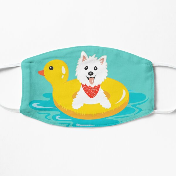 Westie puppy at sea Mask