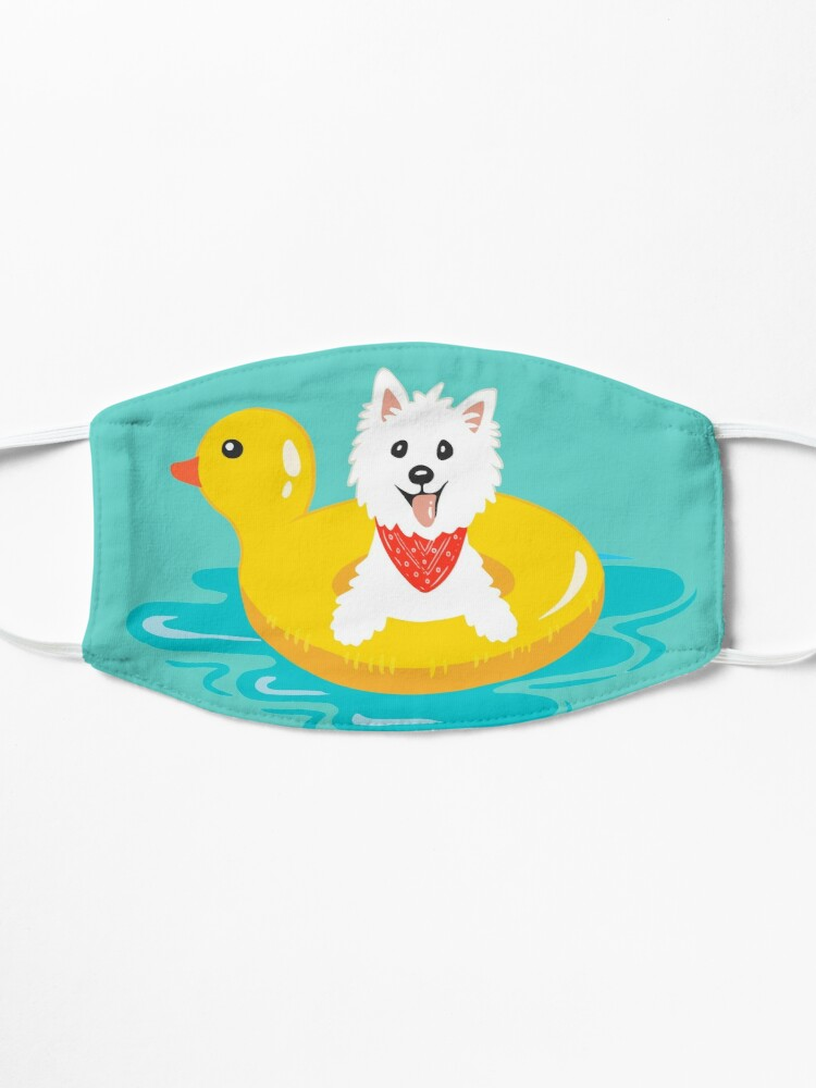 Alternate view of Westie puppy at sea Mask