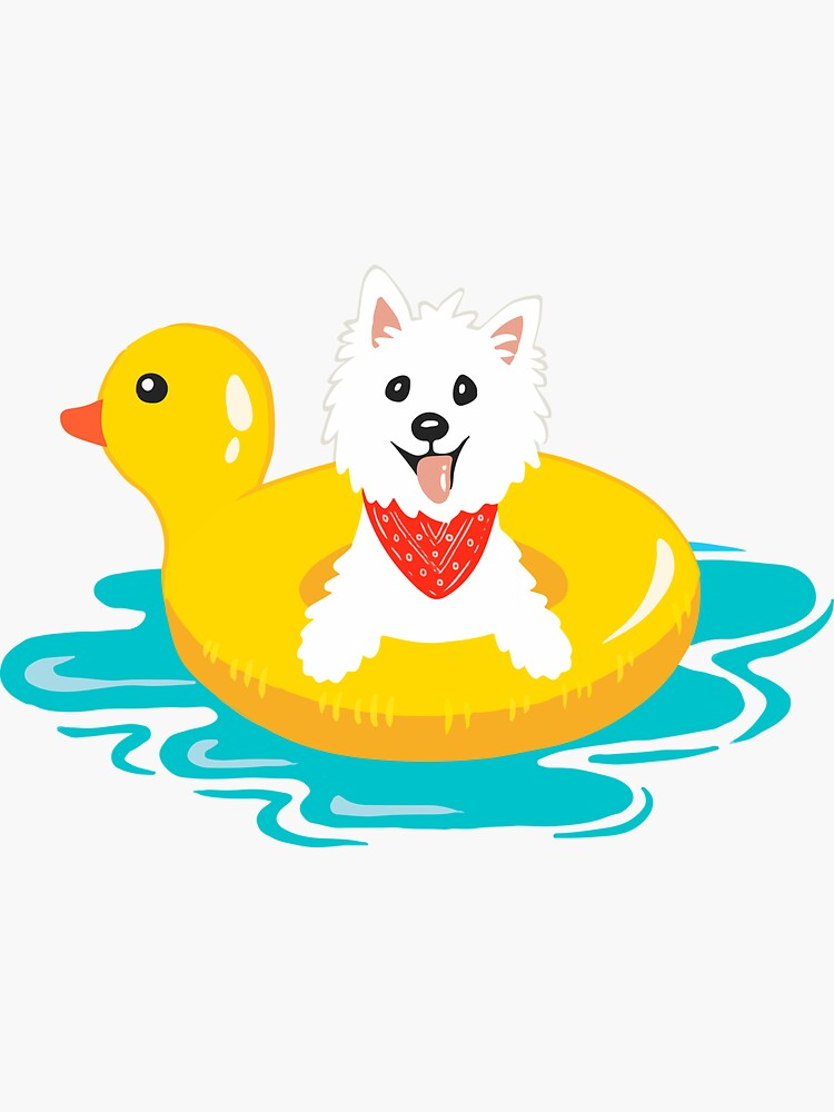 Westie puppy at sea by mirunasfia
