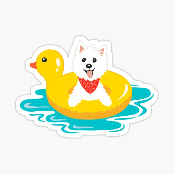 Westie puppy at sea Sticker