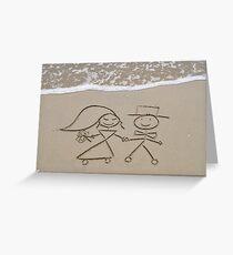 Bride and Groom Grußkarte