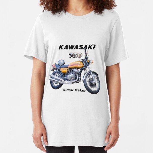 Kawasaki 750 H2 1972 Slim Fit T-Shirt