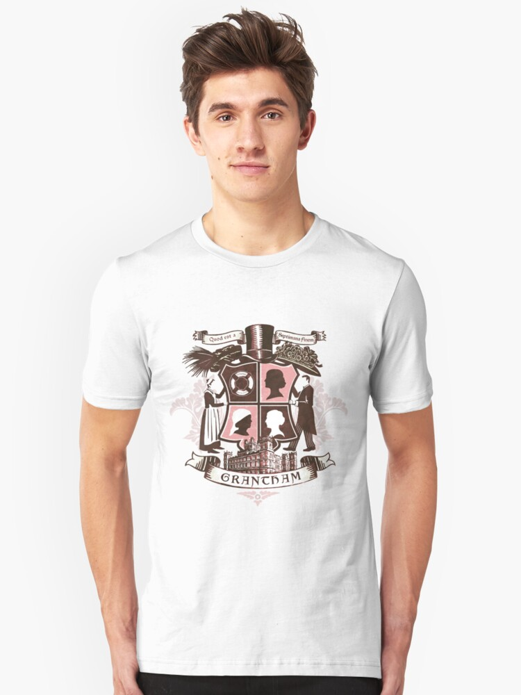 Grantham coat of arms (pink) Unisex T-Shirt Front
