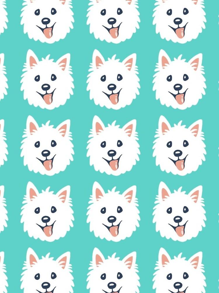 Westie Puppy Pattern by mirunasfia