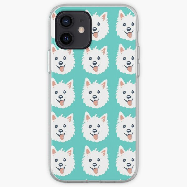 Westie Puppy Pattern iPhone Soft Case