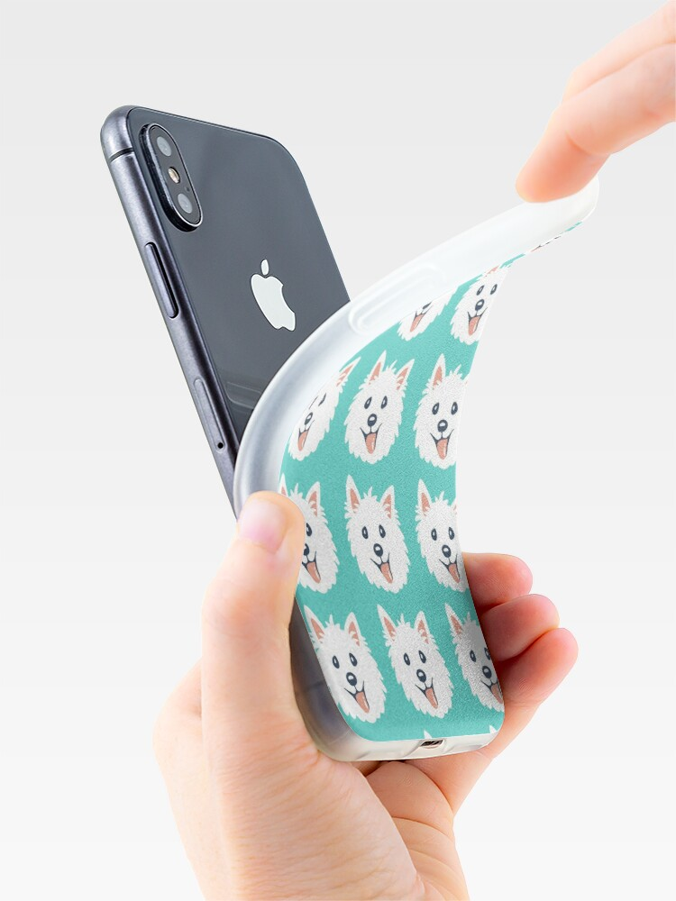 Alternate view of Westie Puppy Pattern iPhone Case & Cover