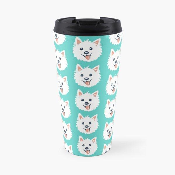Westie Puppy Pattern Travel Mug
