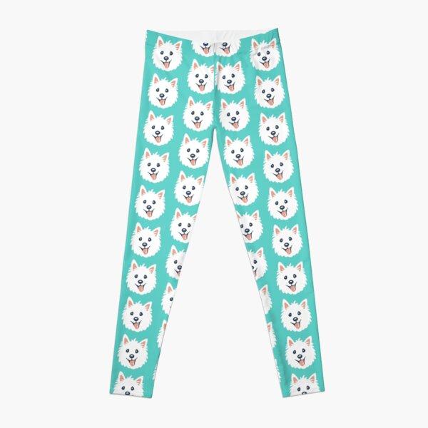 Westie Puppy Pattern Leggings