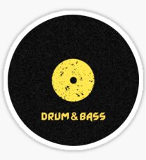 Drum & Bass (Vinyl) Sticker