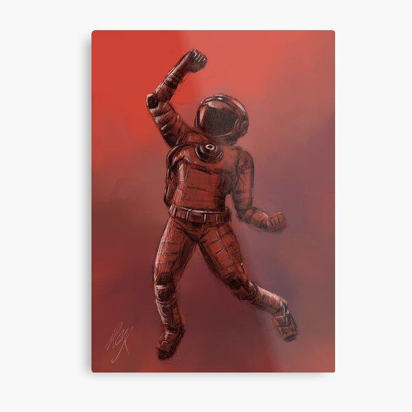 No Mans Sky Spaceman | Fan Art Collection Metal Print