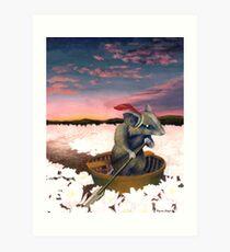 Reepicheep's Last Voyage (From Narnia) Art Print