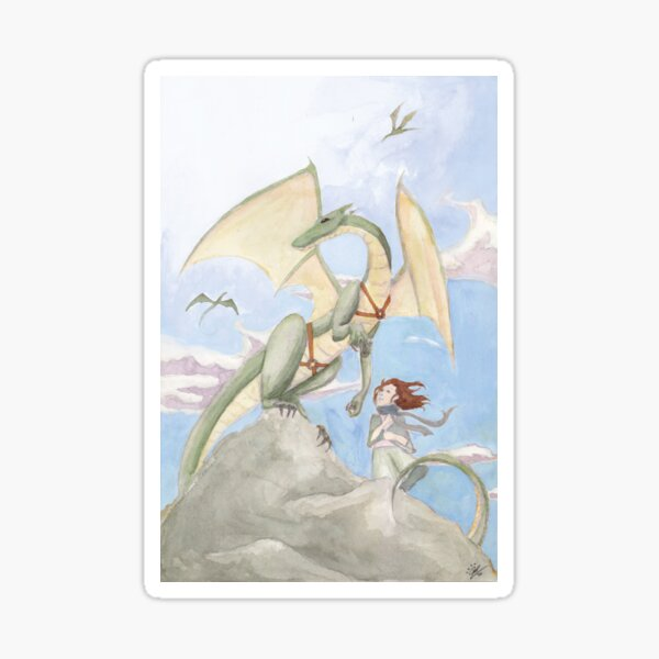Young Dragon Rider Sticker