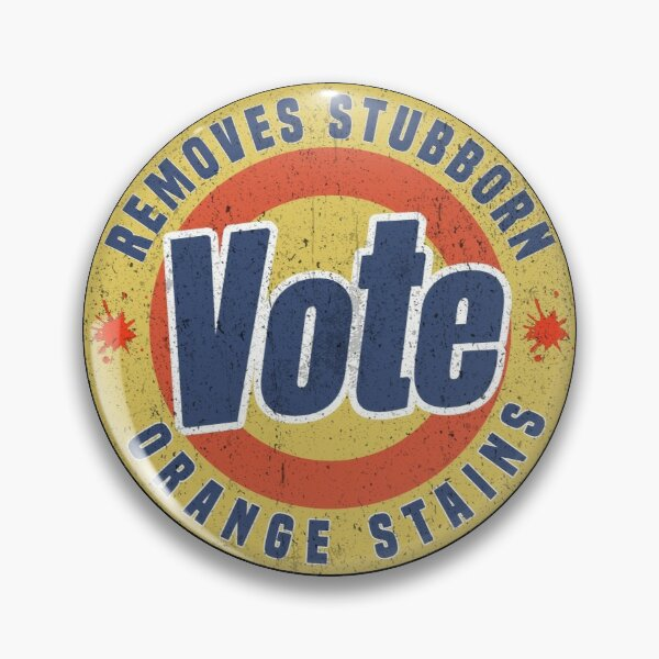 Vote Removes Stubborn Orange Stains, Pin