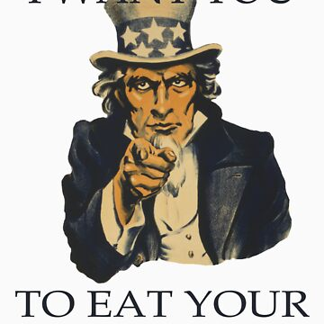Uncle Sam Eat Your Veggies by veganese