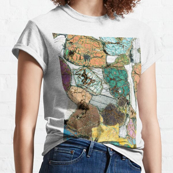 Geology gift - Peridotite from Ardnamurchan, Scotland Rock Thin Section Microscope Photo Classic T-Shirt