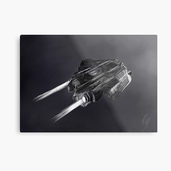 Elite Dangerous Type 9 | Fan Art Metal Print