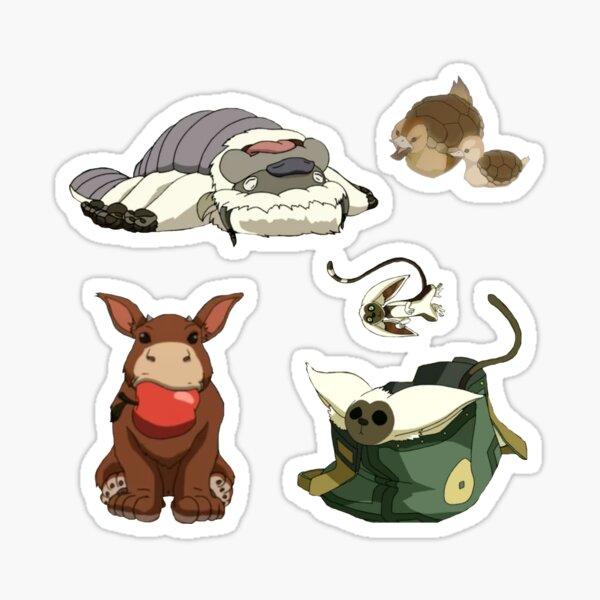 the animals of avatar the last airbender Sticker