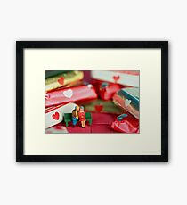 The old lovers memorize Valentine's Day Framed Print
