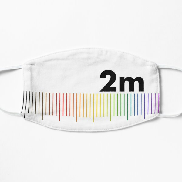 Rainbow 2m Apart  Flat Mask