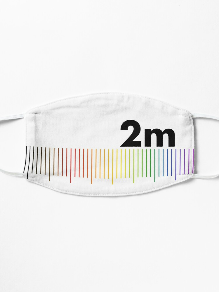 Alternate view of Rainbow 2m Apart  Mask