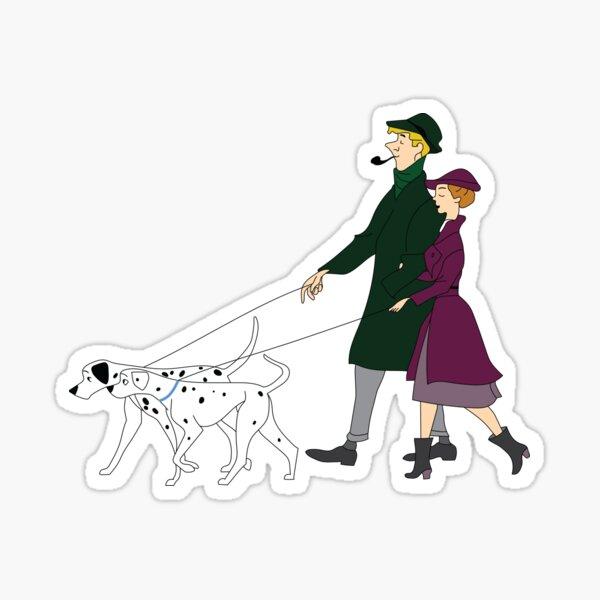 The Pets on a Walk Sticker
