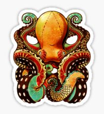 the octopus Glänzender Sticker