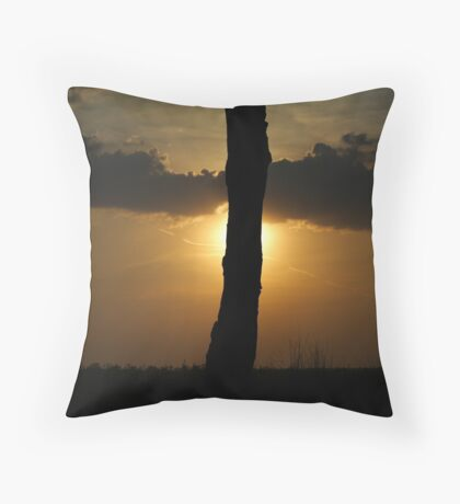 End of day. Throw Pillow