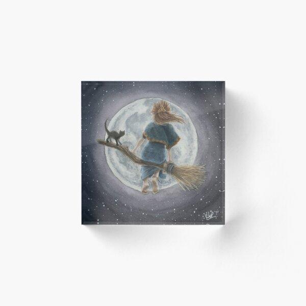 Luna and the Moon Acrylic Block