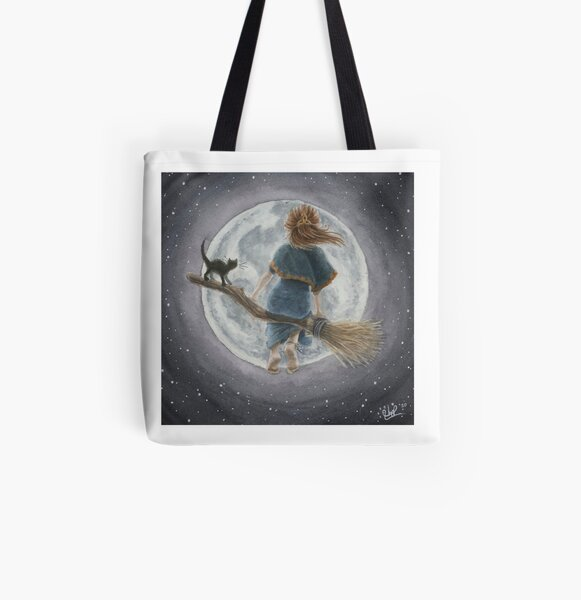 Luna and the Moon All Over Print Tote Bag