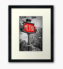 Classic Metro Station Sign Framed Print