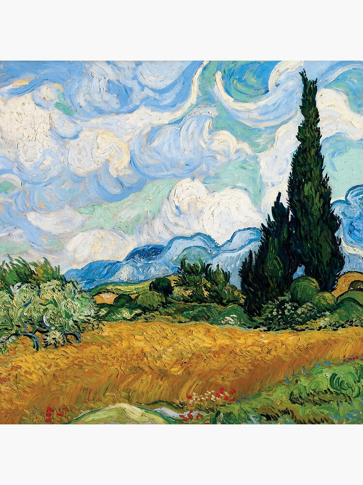 Vincent Van Gogh - Wheat Field with Cypress Trees by AbidingCharm