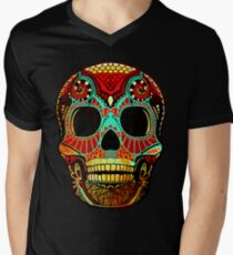 Grunge Skull No.2 Men's V-Neck T-Shirt