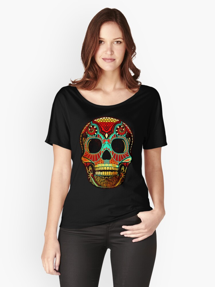 Grunge Skull No.2 Women's Relaxed Fit T-Shirt Front