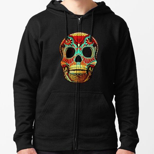 Grunge Skull No.2 Zipped Hoodie