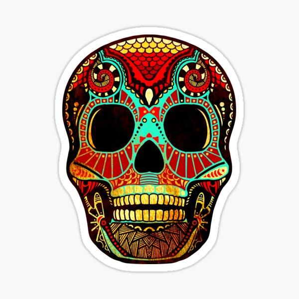 Grunge Skull No.2 Sticker