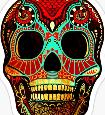 Grunge Skull No.2 Sticker