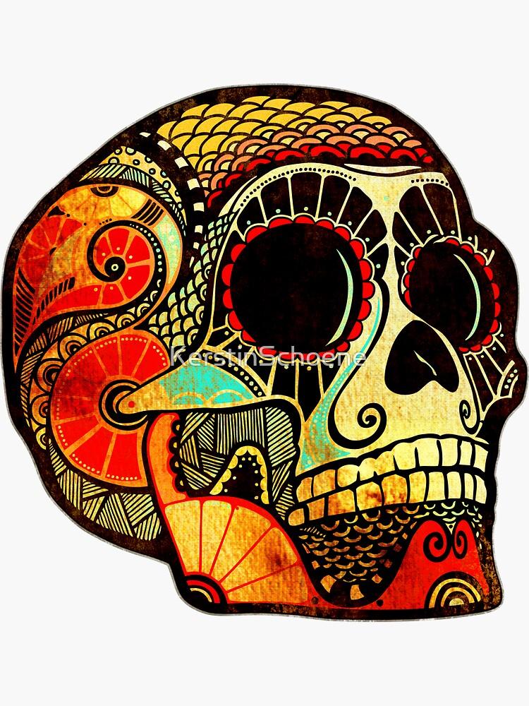 Grunge Skull by KerstinSchoene