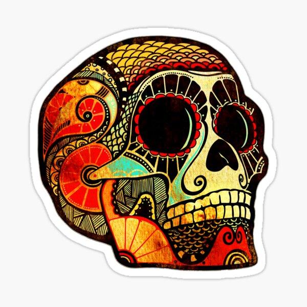 Cráneo Grunge Pegatina