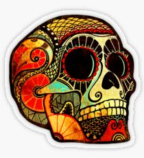 Grunge Skull Transparenter Sticker